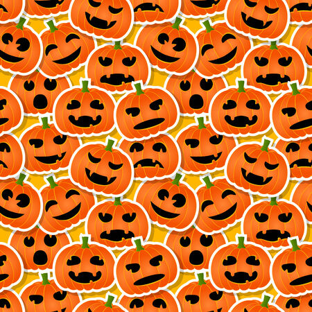 hallow: Halloween pumpkins - seamless pattern