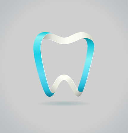 Abstract tooth.  Vector