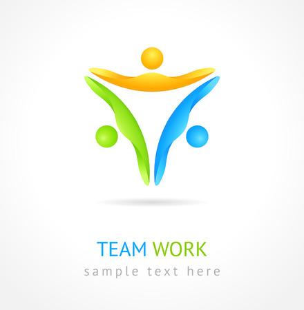 Team work design icon. Vector
