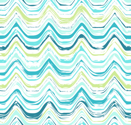 Colorful stripes seamless wavy pattern. Abstract background with hand drawn stripes. Vector watercolor lines background. Vector