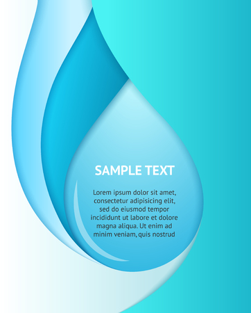 Blue business background with bubble. Vector template