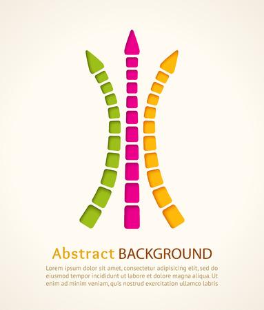 Cut out color arrows. Vector design template. Vector