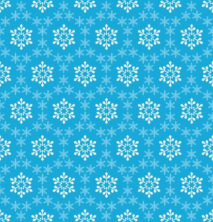 winter wallpaper: Blue seamless snowflake pattern. Vintage style.