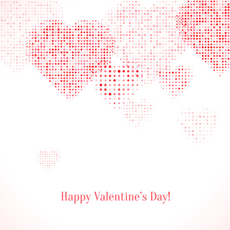 Festive background with hearts. Valentine's card or background. Vector illustration.