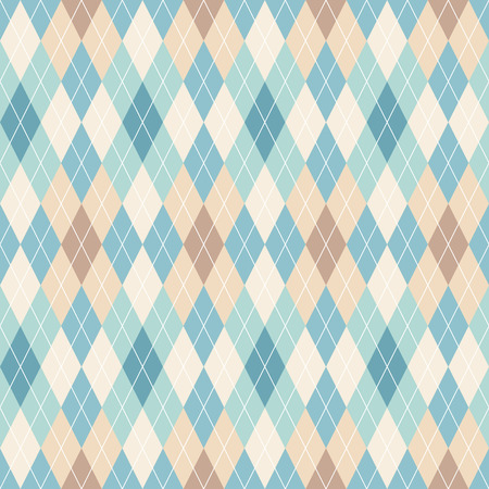 Argyle seamless pattern. Retro background