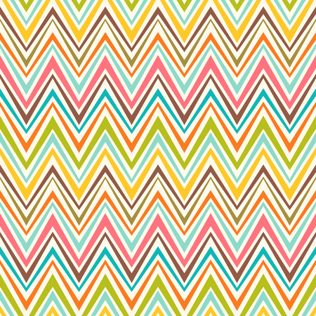 colorful stripes: Colorful seamless zigzag pattern. Abstract background with color stripes. Vector lines background.