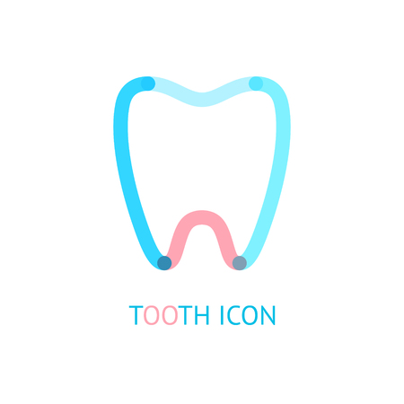 abstract tooth: Abstract tooth. Vector symbol.