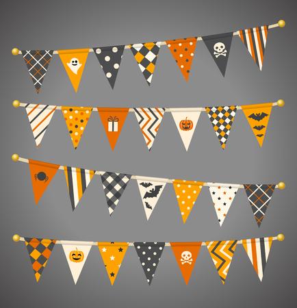 Vector triangle étamine drapeaux. collection guirlande Halloween. Banque d'images - 60831260