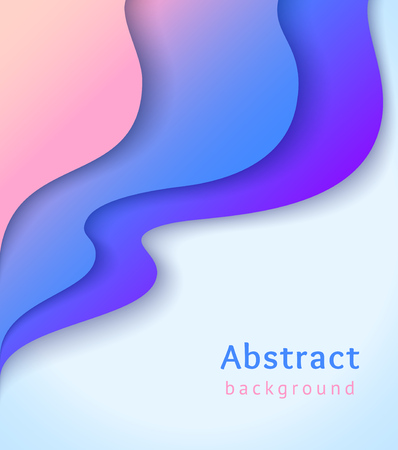 Abstract cover with colorful liquid shapes. Wavy shapes with gradient on blue background. Vector design layout for banners presentations, flyers, posters and invitations