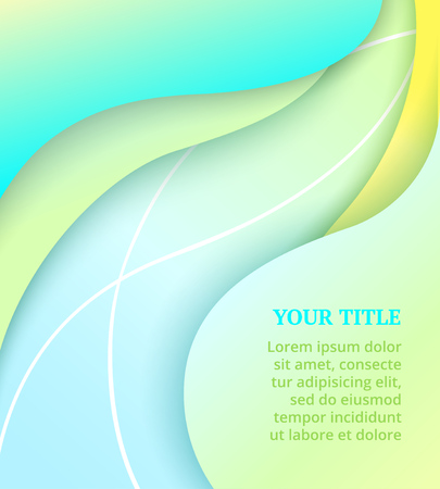 Abstract cover with colorful wavy shapes on green background. Vector design layout for banners presentations, flyers, posters and invitations. Bright summer backdrop Standard-Bild - 122364949