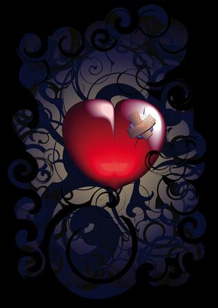 tierschutz: Herz verwundet. Es ist eingeteilt in Schichten perfekt editierbare