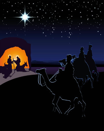 nativity scene: The three wise men