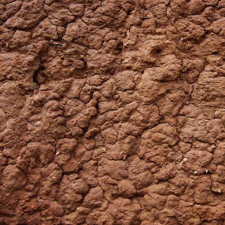 Detail van een adobe muur Stockfoto