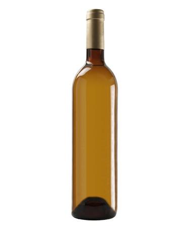 Bottle of white wine; isolated on studio background. Stock Photo - 10445377