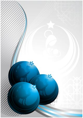 Communication Design for Christmas with nativity and Christmas balls elements Vector