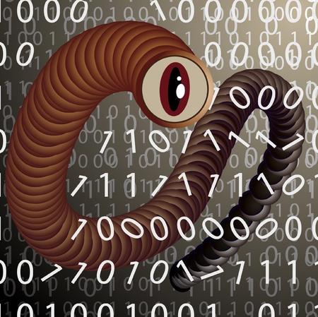 spyware: Un virus ataca a los datos almacenados en un ordenador