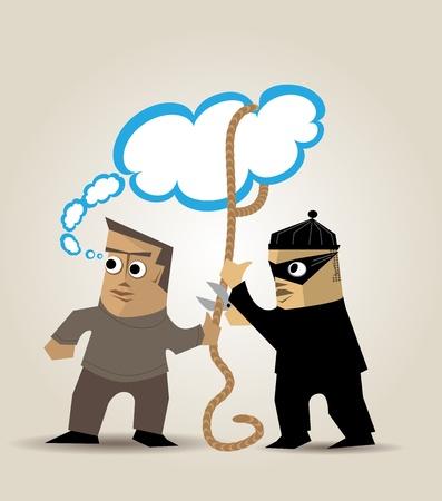 Un ladrón roba las ideas de un hombre que se distrae