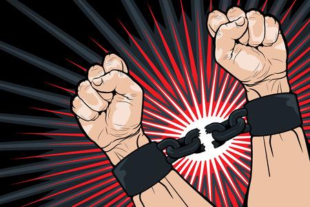 autonomia: Imagen conceptual de la ruptura de los enlaces, en un intento