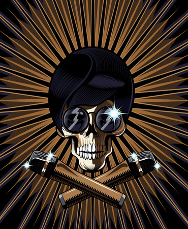 Pop star skull with a hip modern skull wearing trendy dark glasses