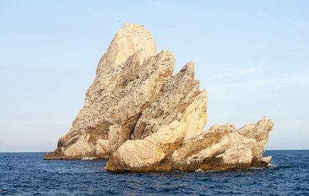Islets surrounded by the Mediterranean sea. Located on the Costa Brava of Catalonia, Spain. Summer.