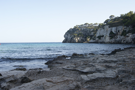 Views of Macarella beach, located in the south of the island of Menorca. Spain. 写真素材
