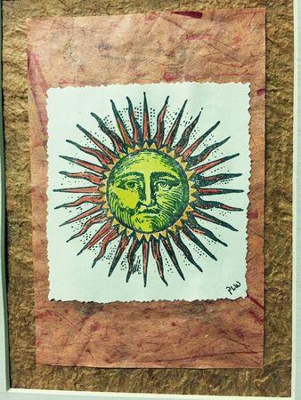 man: Sun man Stock Photo
