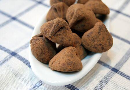 Chocolate Truffles closeup photo