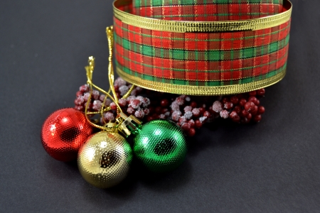 Different Christmas decorations