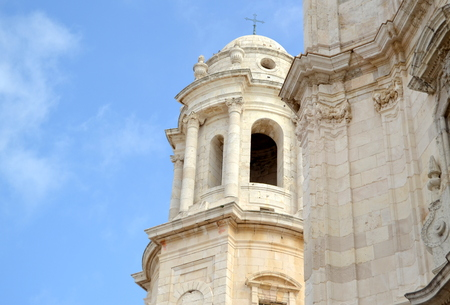 neoclassic: Dome of the Cathedral of Cadiz in Cadiz, Spain. Stock Photo