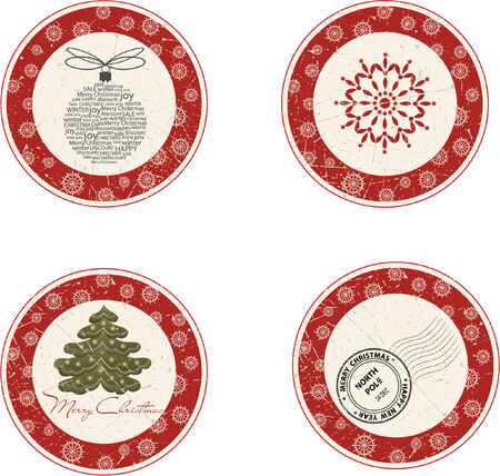 christmas promotion: Christmas labels