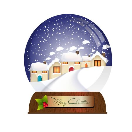 Christmas village ball photo