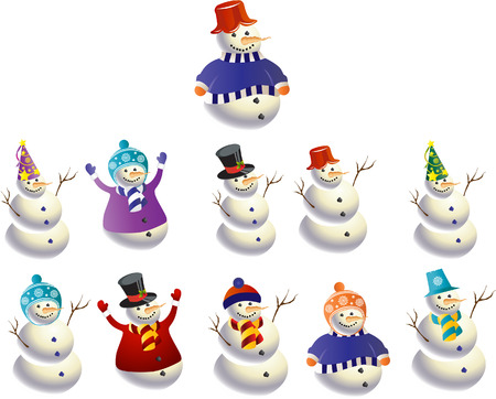 snowman Stock Vector - 6476035
