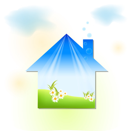 health symbols metaphors: green house
