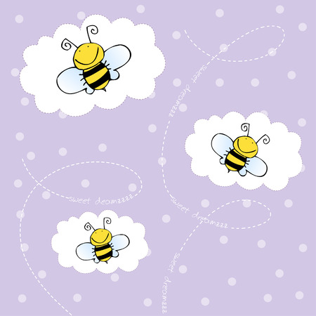 particular: background with bees
