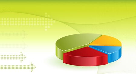 Financial Graphs background  Vector