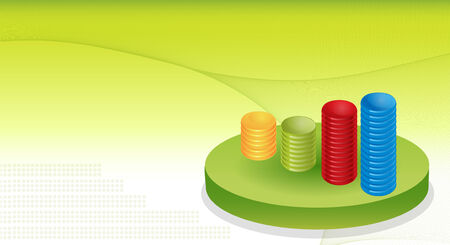 Financial Graphs Background