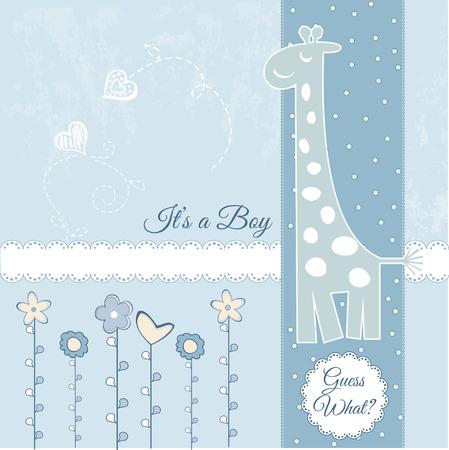 jirafa cute: anuncio de chico de beb�