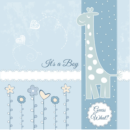 baby boy announcement Stock Vector - 7284928