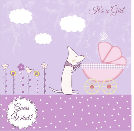 baby girl announcement Stock Vector - 7284935