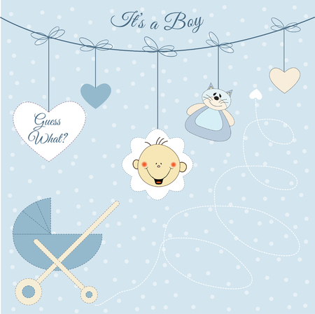 Baby boy announcement Vector