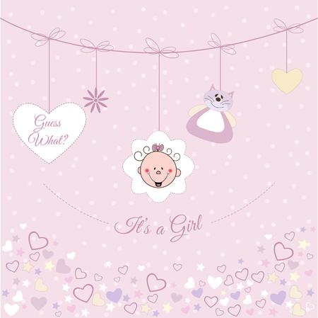 Baby girl announcement Vector