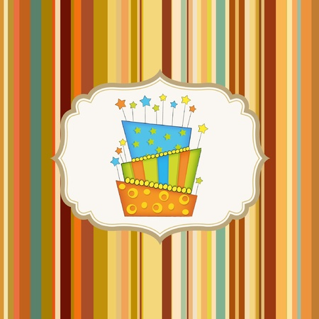 first birthday: birthday background with cake  Illustration