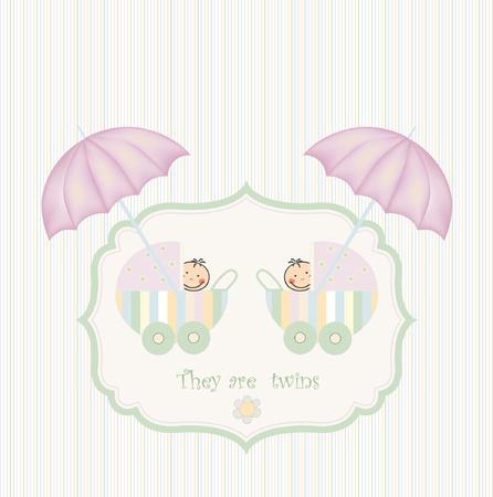 tarjeta de presentación de gemelos