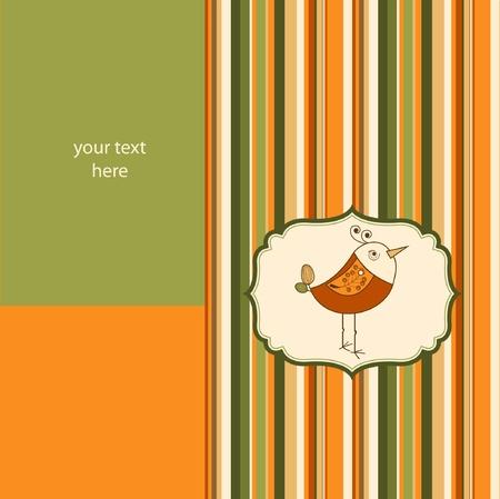cute love card with bird  Stock Vector - 9168279