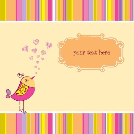 cute love card with bird Stock Vector - 9168282