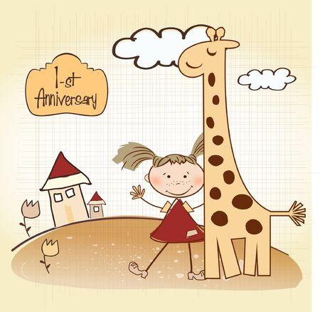 playfulness: first anniversary card