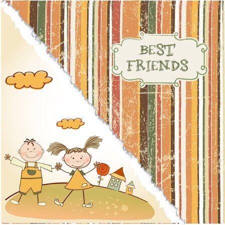 best friends  Stock Vector - 9305562