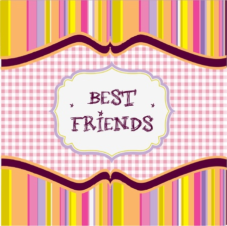 best friends card  Vector