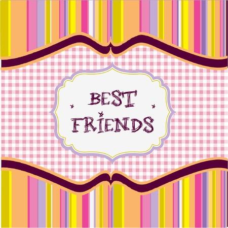 best friends card  Vector