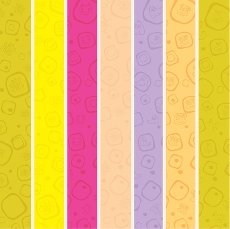 seamless stripe pattern for kids Vector